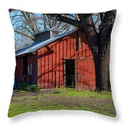 New Clairvaux Abbey Barn Throw Pillow