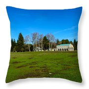 New Clairvaux Abbey Throw Pillow