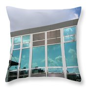 New Company Building Throw Pillow