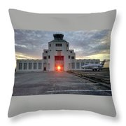 New Dawn For An Old Airport Throw Pillow