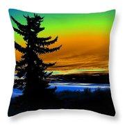 New Dawn In Spokane Throw Pillow