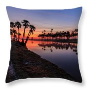 New Day At Econ River Throw Pillow