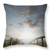 New Day At The Beach Throw Pillow
