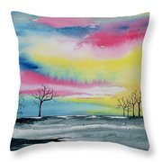 New Day Dawn  Throw Pillow