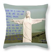 New Day In The Lord Throw Pillow