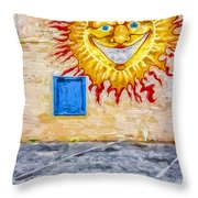 New Day Morning Wall Throw Pillow
