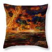 New Day Rising Throw Pillow