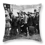 New Deal: C.c.c. Camp Throw Pillow