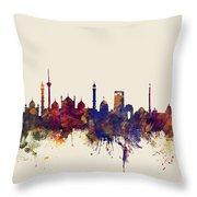 New Delhi India Skyline Throw Pillow