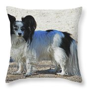 New Dog At The Park Throw Pillow