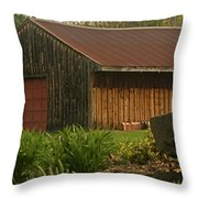 New England Barn Throw Pillow