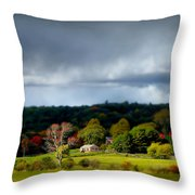 New England Countryside  Throw Pillow