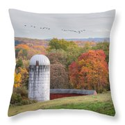 New England Fly Over Square Throw Pillow