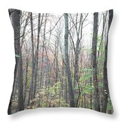 New England Forest Throw Pillow