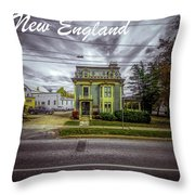 New England Home 3  Throw Pillow