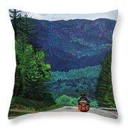 New England Journeys - Motorcycle 2 Throw Pillow