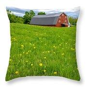 New England Landscape Throw Pillow