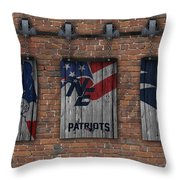 New England Patriots Brick Wall Throw Pillow