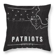 New England Patriots Art - Nfl Football Wall Print Throw Pillow by Damon Gray