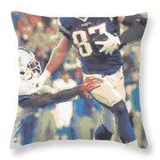 New England Patriots Rob Gronkowski 3 Throw Pillow