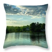 New England Scenery Throw Pillow