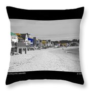 New England Summer Throw Pillow