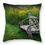 New England Summer Rustic Throw Pillow