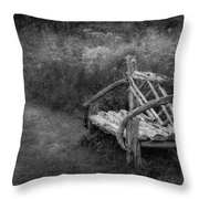 New England Summer Rustic Bw Throw Pillow