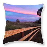 New Fence And New Grass Throw Pillow
