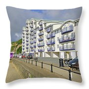 New Flats Overlooking Sandown Esplanade Throw Pillow