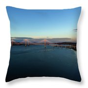New Forth Road Bridge Throw Pillow