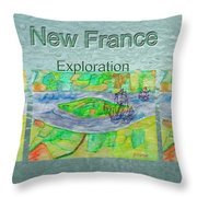 New France Mug Shot Throw Pillow