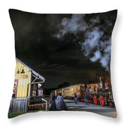New Freedom Pa Steam Train Throw Pillow