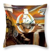 New Frontiers Throw Pillow