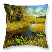 New Growth At The Pond Throw Pillow