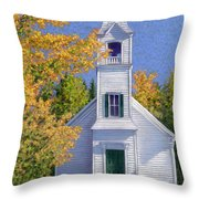New Hampshire Church Throw Pillow