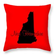 New Hampshire In Black Throw Pillow