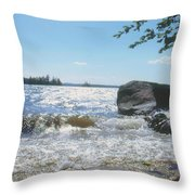 New Hampshire Lake Gale Throw Pillow