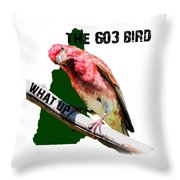 New Hampshire State Bird The Purple Finch Throw Pillow
