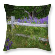 New Hampshire Wildflowers Throw Pillow