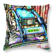 New Holland Workmaster 75 Tractor  2 Throw Pillow
