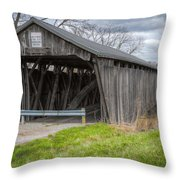 New Hope Covered Bridge  Throw Pillow