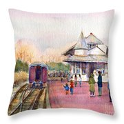New Hope Station Throw Pillow