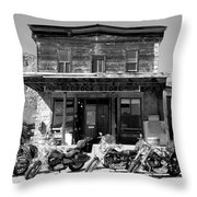 New Horses At Bedrock Throw Pillow by David Lee Thompson