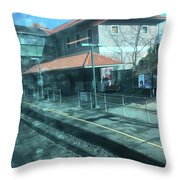 New Jersey From The Train 3 Throw Pillow