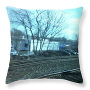New Jersey From The Train 4 Throw Pillow