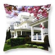 New Jersey Shore Spring Throw Pillow