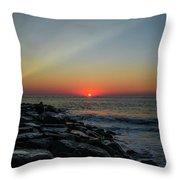 New Jersey Shore - Townsends Inlet Throw Pillow
