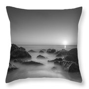 New Jersey Sunrise At Sea Girt Bw Throw Pillow