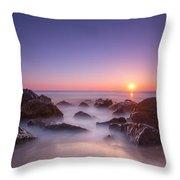 New Jersey Sunrise At Sea Girt Throw Pillow